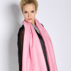 Silk & Acrylic Jacquard Scarf pictures & photos