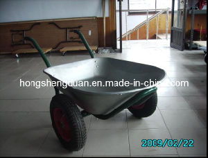 Double Wheels Wheel Barrow (WB6406) pictures & photos