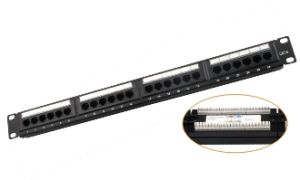 Cat 5e 24 Port Patch Panel, RJ45 Patch Panel, Flt-PU2401 pictures & photos