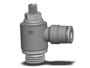 Brass Flow Control With Swiveling Push-in Fitting ,Adjustment With Screwdriver (MNYE)