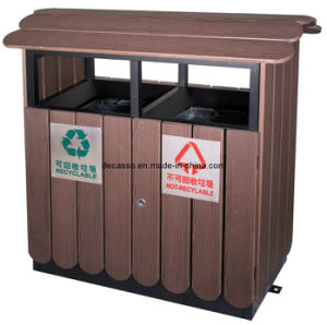 Eco Friendly WPC Classified Outdoor Waste Bin (DL36) pictures & photos