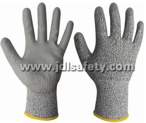 Anti-Cut Work Glove with PU Coating (PD8045) pictures & photos
