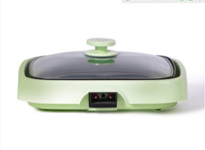 Electric Grill Square Shape Electrical Griddle and Grill with Glass Lid Sf-35p