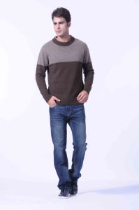 100%Yak Knitted Pullover Striped /Men′s Yak Wool /Wool Sweaters/Garment/Textile/Fabric pictures & photos