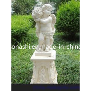 Antique Garden Ornament with White Marble Stone Baby Sculpture pictures & photos