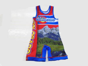 2017 Russian Cheap Custom Wrestling Singlets for Sale pictures & photos