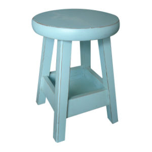 Antique Furniture Blue Wooden Stool Lws059-2 pictures & photos