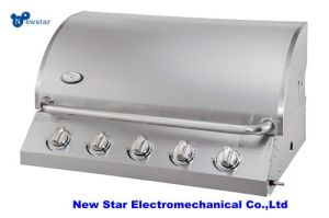 5 Burner Natural Gas Grill - Stainless Steel Barbecue
