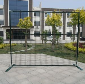 PVC Coated Construction Fence with Steel Feet Via ISO9001 (BY-TFB11)