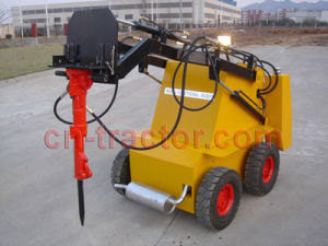 Mini Skid Steer Robot with Hydraulic Hammer pictures & photos