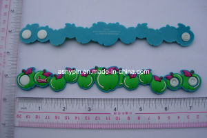 Fashion 3D Soft PVC Bracelet, PVC wristbands pictures & photos