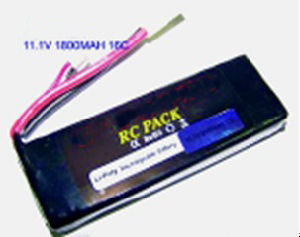 BB Gun Polymer Li Ion Rechargeable Battery 11.1V 1800mAh
