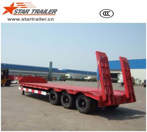 3 Axles Low Bed Trailer pictures & photos