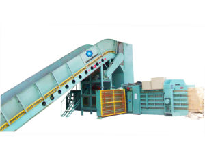 Automatic Baler for Waste Paper Baler/Cardboard HFA10-14 pictures & photos