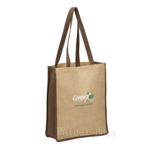 Eco-Friendly Jute Tote Bag (hbju-139) pictures & photos