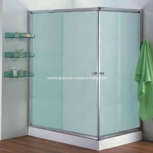 Tempered Decorative Frosted Glass-Acid Etched Shower Glass (3-19mm) pictures & photos