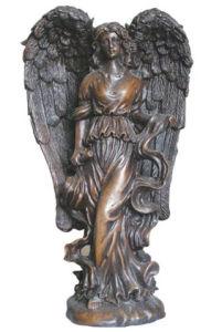 Western Bronze Angel Statue (HY1005)