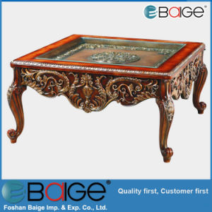 Hot Sell Antique Glass Top Coffee Table C-1650#