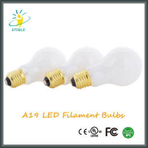 Milky White Glass Cover Medium Base A19 Dimmable LED Bulb pictures & photos