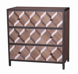 Chinese Classics Wood and Metal Two Drawer End Table in Antique Style pictures & photos