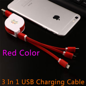 3 in 1 USB Charging Cable for iPhone/Android/Type-C pictures & photos