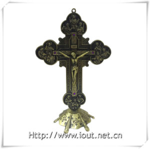 Matel Christian Standing Crucifix Ornament Crucifix (IO-ca093) pictures & photos