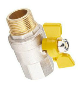 Butterfly Type Brass Gas Ball Valve pictures & photos