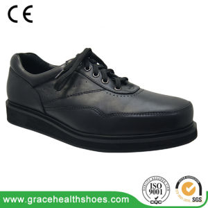 Leather Health Casual Shoes Diabetic Comfy Footware pictures & photos