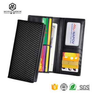 Custom Genuine Carbon Fibre Wallets Genuine Leather Credit Card Wallet pictures & photos