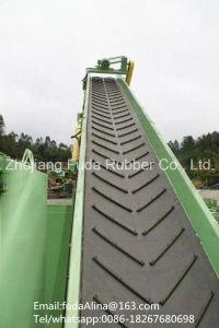 ISO Standard Chevron Conveyor Belt /Patterned Conveyor Belt for Transmission Plant pictures & photos