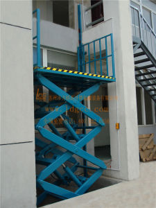 Warehouse Stationary Hydraulic Scissor Cargo Lift (SJG0.5-5) pictures & photos