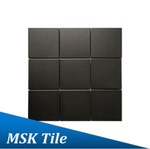 "4X4""Matt Black Glazed Porcelain Floor and Wall Tile"
