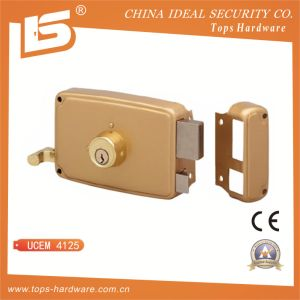 Round Cylinder Rim Lock, Horizontal with Pull-Action - Ucem 4125 pictures & photos
