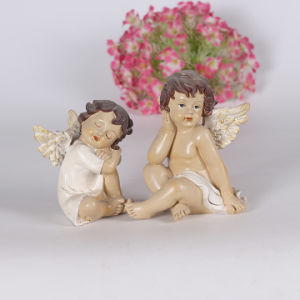 Different Size Custom Resin Cute Angel Statues with Guitar pictures & photos