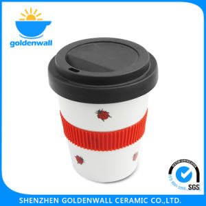 Customized Logo 350ml Porcelain Coffee Mug with Lid pictures & photos