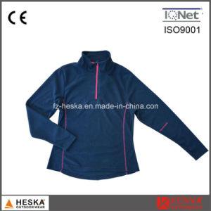 Outdoor Sweatshirts 1/4 Zipper Women Fleece Jacket pictures & photos