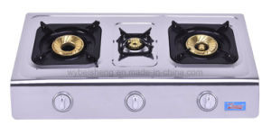 Stainless Steel Triple Burner Gas Stove, Blue Fire pictures & photos