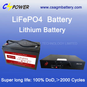 24V100ah Lithium Iron Phosphate Battery (LiFePO4) with Long Life pictures & photos