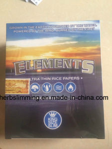 Elements Slim King Size Ultra Thin Rice Rolling Paper 50 Booklets pictures & photos