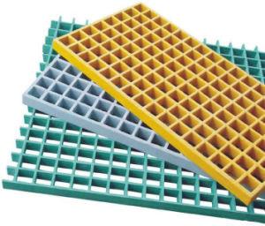Anti-Slip Sanded Fiberglass Moulded Grating for Gritted Surface pictures & photos