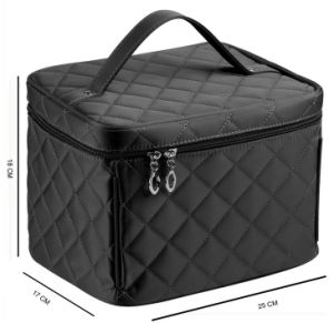 Quality Nylon Portable Outdoor Travel Tolietry Cosmetic Makeup Bag pictures & photos