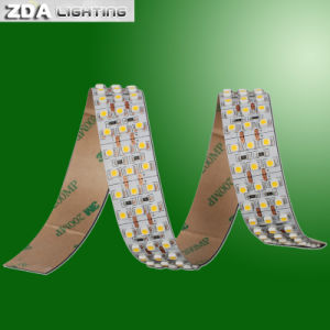 4000k Day White 3 Rows SMD3528 LED Ribbon Strip pictures & photos
