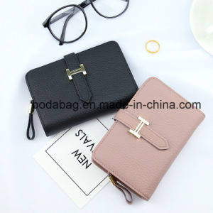 Wholesale Brand Genuine Leather Women Fashion Female Candy Color Purse Lady Multi-Function Zipper Clutch Wallet as Small Accessory (BDX-171002) pictures & photos