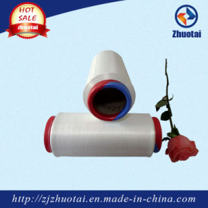 Raw White 30150/48 Polyester Air Covered Yarn pictures & photos