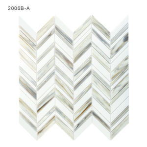 3 mm Thikness Gray and White Backsplash Tile Glass Mosaic pictures & photos