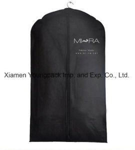 Wholesale Bulk Promotional Custom Printed Black PEVA and Non-Woven Fabric Clothes Cover Suit Carrier Garment Bags pictures & photos