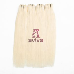 100% Virgin Hair Weave Brazilian Remy Human Hair Extensionblonde Straight pictures & photos