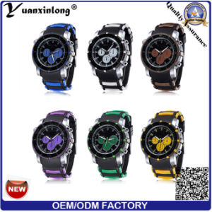 Yxl-187 2016 New Arrive Cute Gift Fashion Bracelet Jelly Men Sports Silicon Watch More Time Zone Wrist Watch Factory pictures & photos