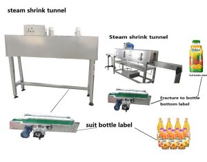 Electricity Bottle Shrink Tunnel for Bottle Label Reach Bottle Bottom pictures & photos