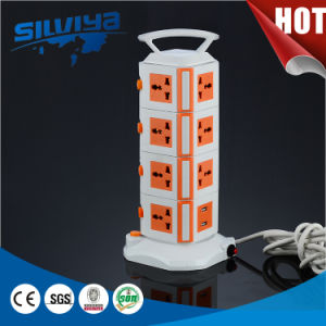Portable Vertical Socket with USB with Overload Protection pictures & photos